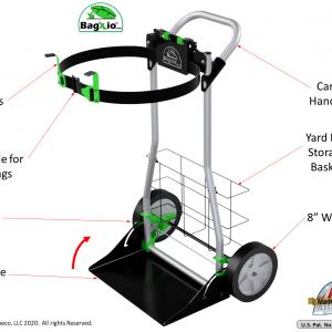 BagXio Yard Bag Cart Product Description